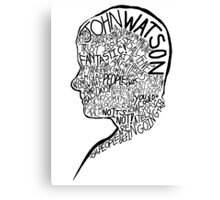 The Essential John Watson. Canvas Print