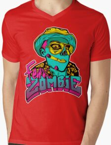 Fear the Zombie Mens V-Neck T-Shirt
