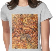 marbled paper - carnival splash Womens Fitted T-Shirt