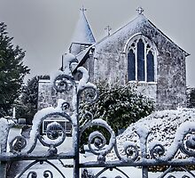 Snowy Church Scene by Simon West