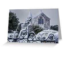 Snowy Church Scene Greeting Card