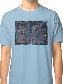 marbled paper - blue mushroom 2 layer Classic T-Shirt