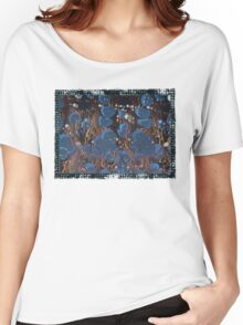 marbled paper - blue mushroom 2 layer Women's Relaxed Fit T-Shirt
