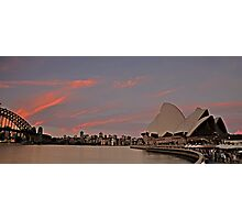 Sydney Icons at Sunset Photographic Print