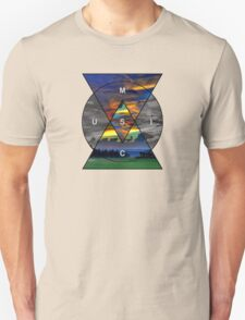 Music: Fire in the Sky (red, orange, blue) T-Shirt