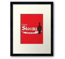 Enjoy Skooma Framed Print