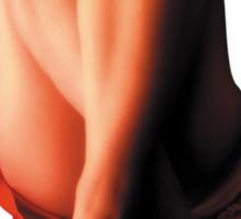 Sexy Red Shoe & Dress Sticker