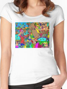 Rabbits on Vacation Women's Fitted Scoop T-Shirt