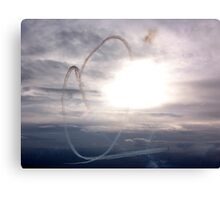 Red Arrows Heart Canvas Print