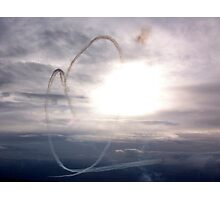 Red Arrows Heart Photographic Print