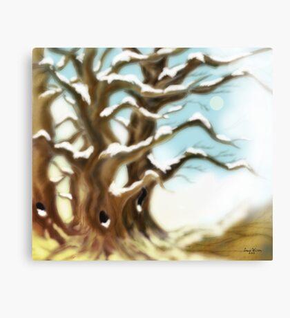 Snow Trees Canvas Print