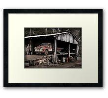 The Truck in the Barn Framed Print