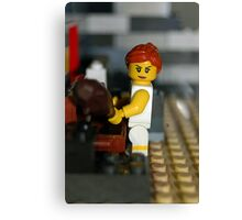 Lego Lady Canvas Print