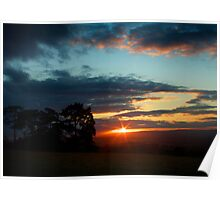 Sunset Over Kentish Field Poster