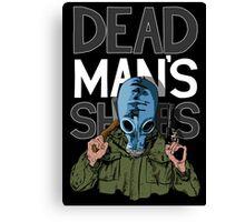 Dead Man's Shoes Comic Style Illustration Canvas Print