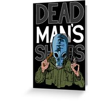 Dead Man's Shoes Comic Style Illustration Greeting Card
