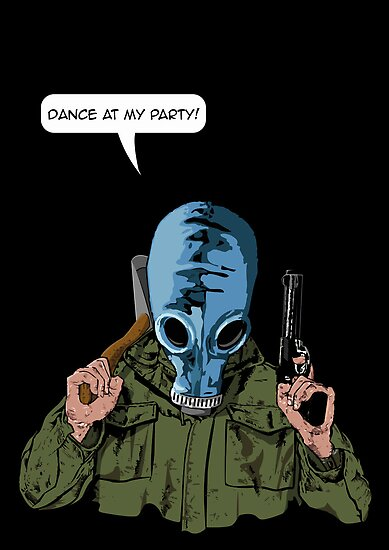 "Dead Man's Shoes ""Dance at my party"" Comic Style Illustration  by Creative Spectator"