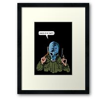"""Dead Man's Shoes """"Dance at my party"""" Comic Style Illustration  Framed Print"""