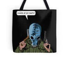 """Dead Man's Shoes """"Dance at my party"""" Comic Style Illustration  Tote Bag"""