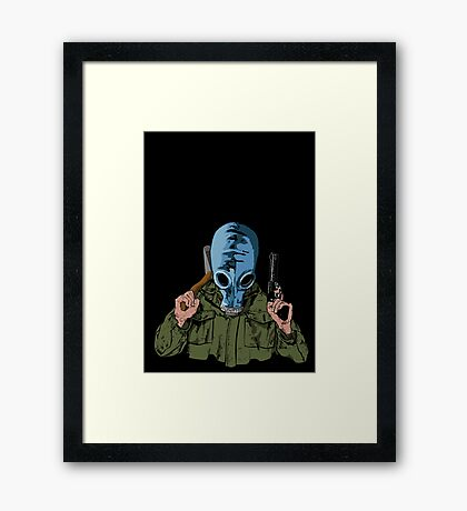 Dead Man's Shoes Comic Style Illustration Framed Print