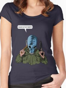 """Dead Man's Shoes """"Dance at my party"""" Comic Style Illustration  Women's Fitted Scoop T-Shirt"""