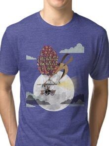 Flying Bicycle Tri-blend T-Shirt