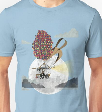 Flying Bicycle Unisex T-Shirt