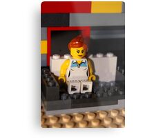 Lego Woman Metal Print
