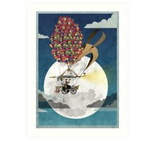 Flying Bicycle Art Print