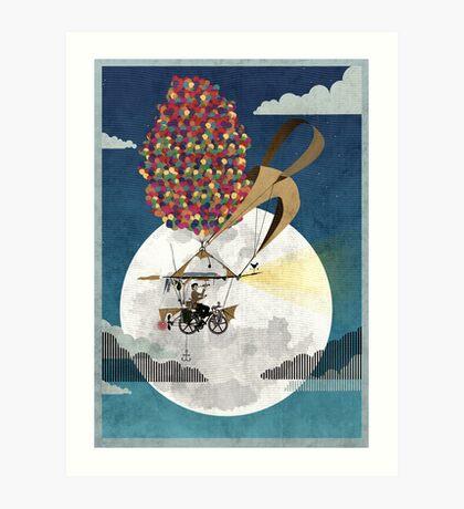 Flying Bicycle Art Print