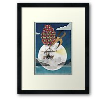 Flying Bicycle Framed Print