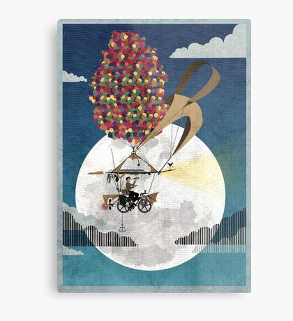 Flying Bicycle Metal Print