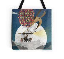 Flying Bicycle Tote Bag