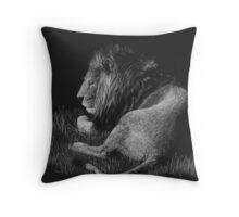Old King - lion Throw Pillow