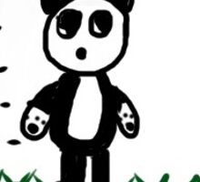 Hungry panda Sticker