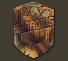 Custom Dredd Badge Shirt - Pocket - (Barrows)  by CallsignShirts