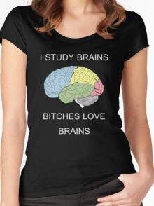 I Study Brains Women's Fitted Scoop T-Shirt
