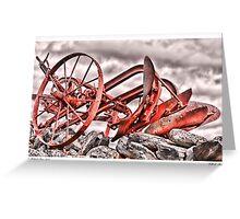 Hillside Plow Greeting Card