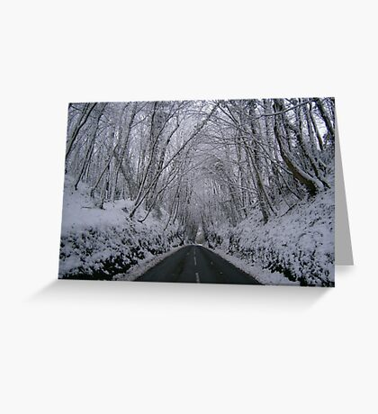 snow tunnel Greeting Card