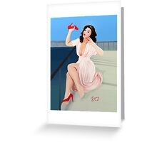 Vintage Pin up - It aches! Greeting Card