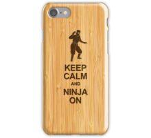Keep Calm and Ninja on in Bamboo Look iPhone Case/Skin