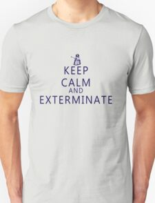 Keep Calm and Exterminate Dalek Unisex T-Shirt