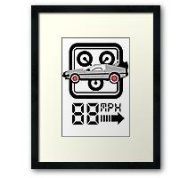 88mph Delorian Framed Print