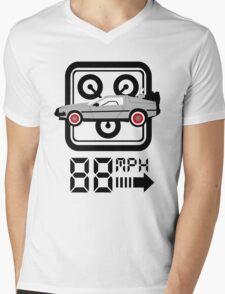 88mph Delorian Mens V-Neck T-Shirt