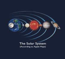 The Solar System - (According to Apple Maps) Kids Clothes