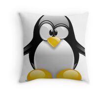Tux The Penguin Throw Pillow