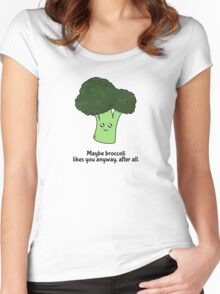 Maybe broccoli likes you anyway, after all. Women's Fitted Scoop T-Shirt