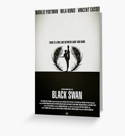 "Movie Poster - ""BLACK SWAN"" Greeting Card"