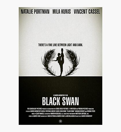 "Movie Poster - ""BLACK SWAN"" Photographic Print"