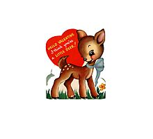 vintage cute little deer dear valentine campy tee  Photographic Print